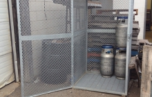 Galvanized Outdoor Cylinder Storage Unit