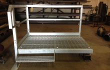 Galvanized Platform with 1 step and handrail
