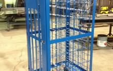 55/110 Cylinder transporter cage – painted blue