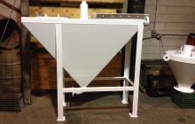 Rectangular hopper - sandblasted and epoxy primed - painted white